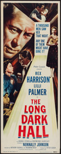 "Movie Posters:Crime, The Long Dark Hall (Eagle Lion, 1951). Insert (14"" X 36""). Crime....."