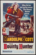 "Movie Posters:Western, The Bounty Hunter (Warner Brothers, 1954). Folded, Fine/Very Fine. One Sheet (27"" X 41""). Western.. ..."