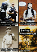 Prints & Multiples, After Banksy . Banksy vs. Bristol Museum, posters (four works), 2009. Offset lithographs in colors on satin white paper... (Total: 4 Items)
