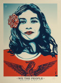 Fine Art - Work on Paper:Print, Shepard Fairey (b. 1970). Defend Dignity, 2017. Screenprintin colors on paper. 35-3/4 x 26-3/8 inches (90.8 x 67.0 cm) ...