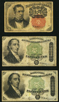 Fractional Currency:Fifth Issue, 10¢ and 50¢ Fractional.. ... (Total: 3 notes)