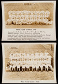 Baseball Collectibles:Photos, New York Giants Vintage Photographs Lot of 5....