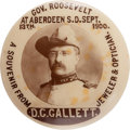 Political:Pinback Buttons (1896-present), Theodore Roosevelt: Real Photo Rough Rider Reunion Advertising Button....