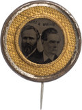 Political:Ferrotypes / Photo Badges (pre-1896), Hayes & Wheeler: Choice, Nearly-Pristine Ferrotype Jugate Badge....