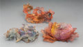 Sculpture, Three Biomorphic Painted Copper Wire Sculptures. 3-1/8 h x 7 w x 4-1/8 d inches (7.9 x 17.8 x 10.5 cm) (largest). ... (Total: 3 Items)