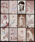 Baseball Cards:Lots, 1947-66 Exhibit Baseball Collection (55) - Includes 6 Signed. . ...