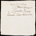 Autographs:Others, Jimmy Foxx Signed Handkerchief.. ...