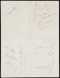 Autographs:Others, 1950's Brooklyn Dodgers Signed Sheet With Robinson, Snider,Campanella. . ...