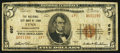 National Bank Notes:Massachusetts, Lynn, MA - $5 1929 Ty. 2 The National City Bank Ch. # 697. ...