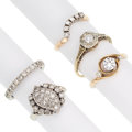 Estate Jewelry:Rings, Diamond, Gold Rings. ... (Total: 5 Items)