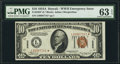 Small Size:World War II Emergency Notes, Fr. 2303* $10 1934A Hawaii Federal Reserve Note. PMG Choic...