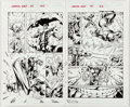 Original Comic Art:Splash Pages, Jorge Santamaria and Scott Hanna The Avengers: CelestialQuest #1 Double-Page Spread 15-16 Original Art (Marvel Co...