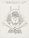 Original Comic Art:Sketches, Terry Austin Batman Sketch Original Art (2000)....