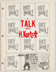 A Talk with H. Kurtzman Softcover Saddle-Stitched Book (John Benson/QWERTYUIOPress, 1966) Condition: VF