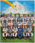 Baseball Collectibles:Photos, Negro League Greats Multi Signed Ron Lewis Lithograph. . ...