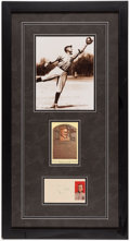 Baseball Collectibles:Photos, Ty Cobb Signed Cut Signature Display Piece. . ...