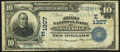 National Bank Notes:New York, Amsterdam, NY - $10 1902 Date Back Fr. 616 The First NB Ch. # (E)1307. ...
