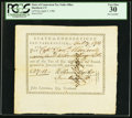 Colonial Notes:Connecticut, Connecticut Pay Table Office £27.12s April 7, 1783 PCGS Very Fine30.. ...