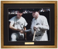 Baseball Collectibles:Photos, Ted Williams with Babe Ruth Oversized Photograph Display.. ...