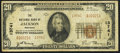 National Bank Notes:Michigan, Jackson, MI - $20 1929 Ty. 2 The NB of Jackson Ch. # 13741. ...