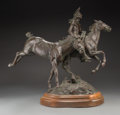 Sculpture, Joe Beeler (American, 1931-2006). Free Spirit. Bronze with brown patina. 20 inches (50.8 cm) high on a 3 inch (7.6 cm) h...