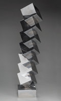 Fine Art - Sculpture, American:Contemporary (1950 to present), Peter Nichols (American, 20th century). Geometric StackedCubes. Metal. 34 x 6-1/2 x 6-1/2 inches (86.4 x 16.5 x 16.5cm...