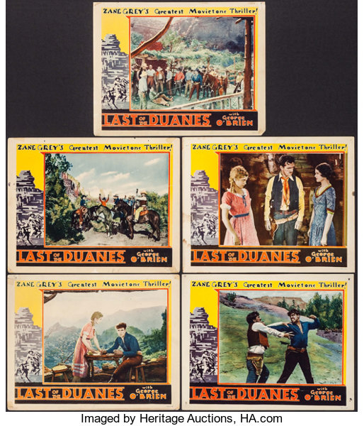 the last of the duanes fox 1930 lobby cards 5 11 x lot