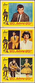 "Movie Posters:Rock and Roll, Go, Johnny, Go! (Hal Roach, 1959). Lobby Cards (3) (11"" X 14"").Rock and Roll.. ... (Total: 3 Items)"
