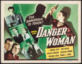 "Movie Posters:Drama, Danger Woman (Universal, 1946). Title Lobby Card (11"" X 14""). Drama.. ..."