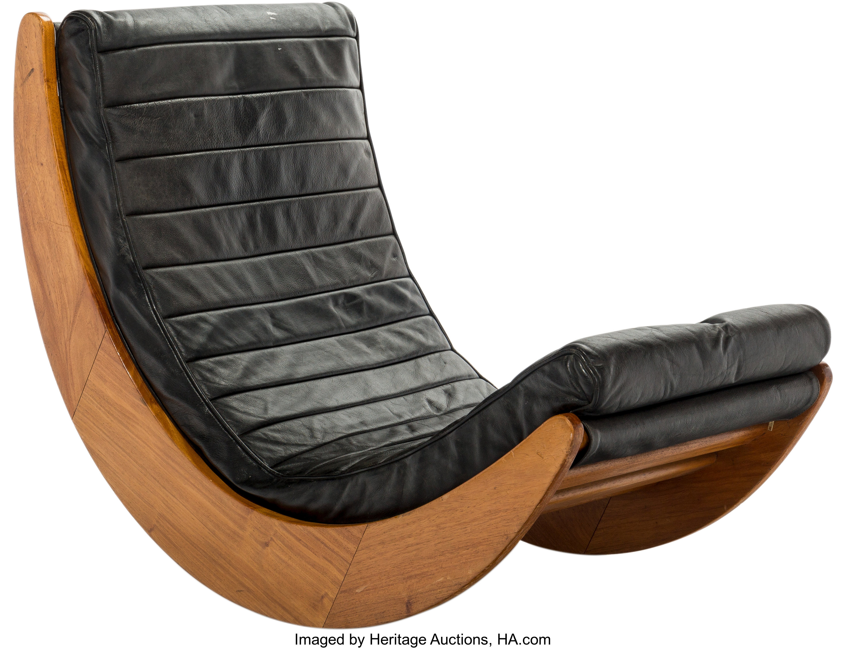 Chaise Panton Verner Panton a verner panton for rosenthal relaxer oak and black leather