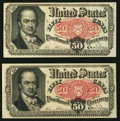 Fractional Currency:Fifth Issue, Fr. 1381 50¢ Fifth Issue Two Examples. . ... (Total: 2 notes)