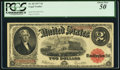 Large Size:Legal Tender Notes, Fr. 60 $2 1917 Legal Tender PCGS About New 50.. ...