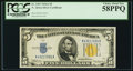 Small Size:World War II Emergency Notes, Fr. 2307 $5 1934A North Africa Silver Certificate. PCGS Choice About New 58PPQ.. ...
