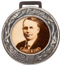 Political:Pinback Buttons (1896-present), James M. Cox: Sepia Real Photo Fob....