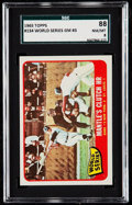 "Baseball Cards:Singles (1960-1969), 1965 Topps ""Mantle's Clutch HR"" World Series Game 3 #134 SGC 88NM/MT 8...."