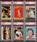 Baseball Cards:Lots, 1958-67 Topps Mickey Mantle PSA Graded Collection (6)....