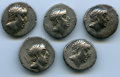Ancients:Ancient Lots  , Ancients: ANCIENT LOTS. Cappadocian Kingdom. Ariobarzanes IPhiloromaeus (96-63 BC). Lot of five (5) AR drachms. VF-ChoiceVF. ... (Total: 5 coins)