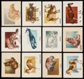 Non-Sport Cards:Sets, 1951 Topps Animals of the World Near Set (91/100). ...