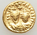 Ancients:Byzantine, Ancients: Heraclius (AD 610-641) and Heraclius Constantine (AD613-641). AV solidus (4.48 gm). About XF....