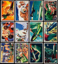 Non-Sport Cards:Sets, 1952 Bowman Jets, Rockets and Spacemen Near Set (106/108). ...