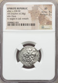Ancients:Greek, Ancients: EPIRUS. Federal coinage of the Epirote Republic. Ca.232-168 BC. AR drachm (4.38 gm). NGC XF 4/5 - 3/5....