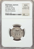 Ancients:Greek, Ancients: BRUTTIUM. Croton. Ca. 480-430 BC. AR stater (8.09 gm).NGC AU ★ 5/5 - 5/5....