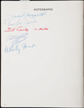 Autographs:Others, 1968 York Area Sports Night Multi-Signed Program With Clemente, Rizzuto, Ford.. ...