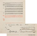 Autographs:Baseballs, 1930-31 Babe Ruth Signed New York Yankees Player's Contrac...