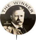 """Political:Pinback Buttons (1896-present), Theodore Roosevelt: Tough Variety of the 1912 """"Winner"""" Portrait Button...."""