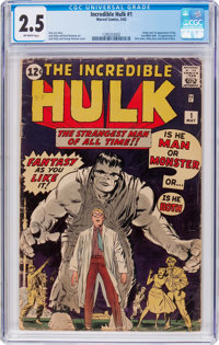 The Incredible Hulk #1 (Marvel, 1962) CGC GD+ 2.5 Off-white pages