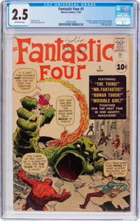 Fantastic Four #1 (Marvel, 1961) CGC GD+ 2.5 Off-white pages