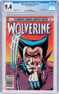 Modern Age (1980-Present):Superhero, Wolverine #1 (Marvel, 1982) CGC NM 9.4 Off-white to white pages....