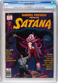 Magazines:Horror, Marvel Preview #7 Satana (Marvel, 1976) CGC VG/FN 5.0 Off-white to white pages....