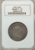 Early Half Dollars, 1795 50C 2 Leaves, O-125, T-13, R.4, Fine 12 NGC....